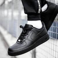 Sepatu Nike Air Force 1 Low Triple Black (37 s/d 45) Premium Original