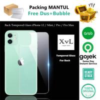 XvL iPhone 12 / Mini / Pro / Pro Max - Back Tempered Glass Clear HD - IPH 12 MINI
