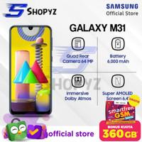 SAMSUNG GALAXY M31 - 6000mAh Battery - 6GB 128GB 6/128 - Garansi Resmi