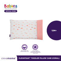 Clevamama 2019 Toddler Pillow Case CORAL