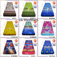 Sarung kasur ukuran 90x200x15/busa/sprei/resleting/cover/single/king