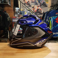 shoei x spirit 3 aerodyne tc2 blue