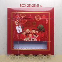 Box Kue Imlek Size 25 x 25 x 5 cm