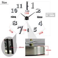 Jam Dinding Besar Raksasa Giant 3D Wall DIY Clock Diameter 80-130cm