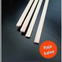 Kayu balsa strip 2mm x 8mm kayu maket kayu lis