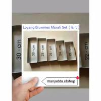 Loyang brownies Murah set ( ISI 5 pcs )