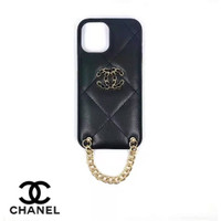 case chanel nagita tali rantai iphone 11 pro max 12 12 mini 12 pro max - Hitam, iphone 11