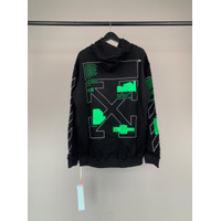 HOODIE OFF WHITE IMPORT / HOODIE OFFWHITE GREEN / SWEATER IMPORT PRIA