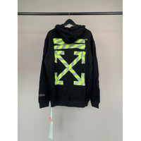 OFFWHITE HOODIE HOLOGRAM REFLECTIVE   HOODIE OFF WHITE MADE PORTUGAL