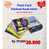 Kartu Flashcard Anak Islam Opsi 1 (11 Tema)