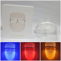LED FACE MASK SKIN TREATMENT LIGHT THERAPY 3 COLOR / FACE SHIELD