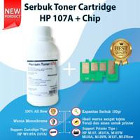 Serbuk Toner Refill Cartridge Plus Chip 107A W1107A M135A M135W M137A