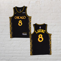 Baju Jersey Basket Swingman NBA Zach Lavine Chicago Bulls City Edition
