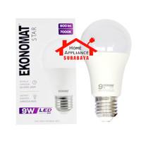 Lampu LED Bulb Ekonomat Star 9W 9 Watt Cahaya Putih