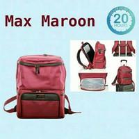 Cooler bag Natural mom max maroon tas asi bayi