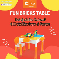 Olike Fun Bricks Table Edu Toys Mainan Lego Meja Lego Set