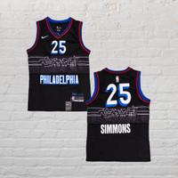 Baju Jersey Basket Swingman NBA Ben Simmons Philadelphia City Edition