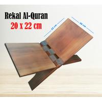 Rekal al-Quran Kayu ukuran 20x22 cm