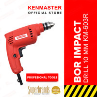 Kenmaster Bor Impact 10MM KM-603R Electric Drill REVERSIBLE-Merah