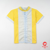 Moosca Kidswear Mike Cheong Sam Shirt - Yellow