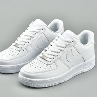 Sepatu Nike air force 1 Low all White - Putih, 36