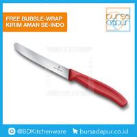 Pisau 6.7831 Victorinox Red Tomato & Table Knife Wavy Edge 11cm