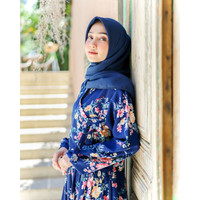 Tunik Muslim Korean Hanbok Daisy Royal Blue By DRESSSOFIA