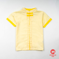 Moosca Kidswear Alan Cheong Sam Shirt - Yellow