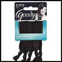 Goody ouchless 07536 ribbon elastics solid black 5ct Ikat Rambut