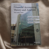 financial accounting theory and analysis eleventh edition