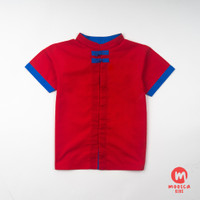Moosca Kidswear Alan Cheong Sam Shirt - Red