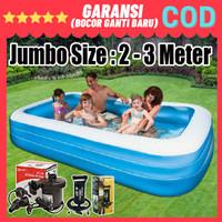 KOLAM RENANG KARET ANAK/DEWASA UKURAN 2 SAMPAI 3 METER JUMBO MURAH - 200cm, hanya kolam