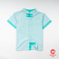 Moosca Kidswear Alan Cheong Sam Shirt - Mint