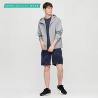 uniqlo celana olahraga training pria pendek dry ex motif