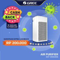 GREE AIR PURIFIER - Anti Bacteria - Ionizer - PUTIH Model GCF200AANA