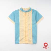 Moosca Kidswear Mike Cheong Sam Shirt - Blue