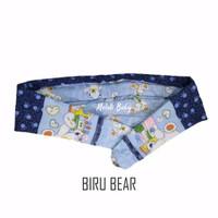 Gendongan Bayi Samping Corak - Biru Bear