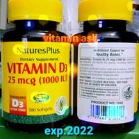 Natures plus vitamin d3 1000iu 180 soft