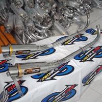 knalpot racing jrm supra vega jupiter revo motor bebek - rcb, absolt r / revo