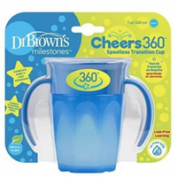 Dr. Brown's Cheers360 Spoutless Transition Cup With Handles Cangkir