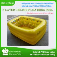 Kolam renang anak bentuk persegi bahan ramah lingkungan kolam saja - 160*110*55cm, Kuning
