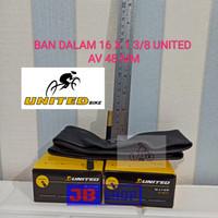 BAN DALAM SEPEDA 16 X 1 3/8 349 16X1 3/8 PENTIL PANJANG AV 48 MM