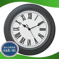Jam Dinding Besar Abu Diameter 40 cm Sweep Movement IKEA