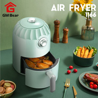 GM Bear Penggoreng Elektrik Tanpa Minyak 1166 - Air Fryer Green