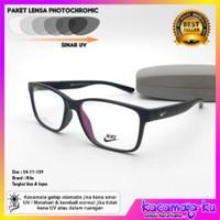 Kacamata Minus Pria Sporty N3325 Paket Lensa Photocromic