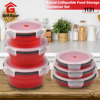 GM Bear Set Tempat Makan Lipat 1131-Foldable Round Storage Lunch Box