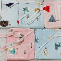 selimut bayi topi lebar Love mom/SNI/80X90cm/halus lembut/ - pink
