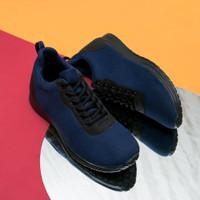 Sepatu Sneakers Koketo Expansion Navy Sol Hitam Original - 39