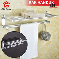 GM Bear Rak Handuk Kamar Mandi Multifungsi 1251 - Wall Mounted