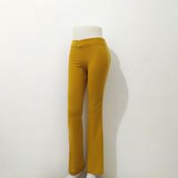 Celana Olahraga Trening Senam Wanita warna mustard - Mustard, L